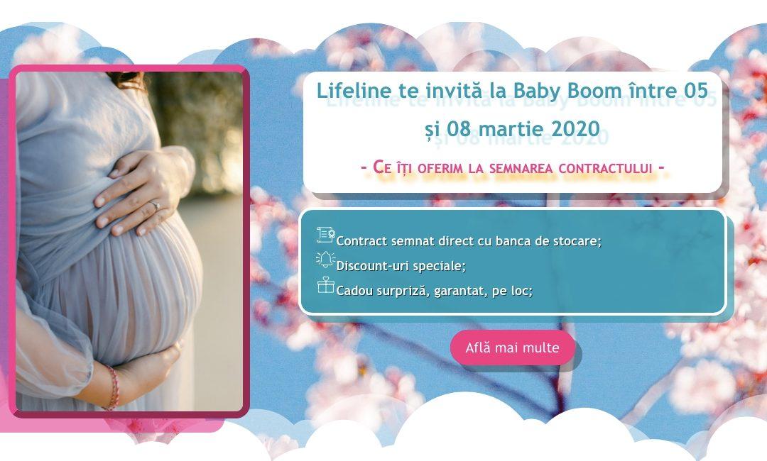 Lifeline vă așteaptă la Baby Boom Show 2020 – Ediția de Primvăvară –